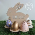 Personalised Bunny Egg Stand