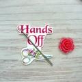 Pink Rose Hands Off Needlework Set | Scissor Fob, Needle Minder, Needle Threader