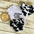 """New to the Herd"" Onesie Set Baby Boy"