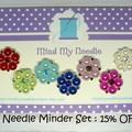 Needle Minder Set | Gems & Pearls | Needleminder | Magnet for Cross Stitch, Embr