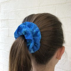 Blue Galaxy Scrunchie