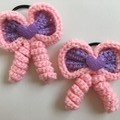 Hair Bow / Elastic / Ponytail (Matching Set of Two)