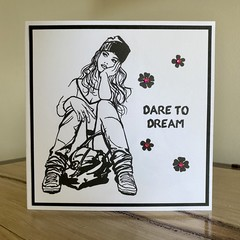 Dare to Dream, Handmade card
