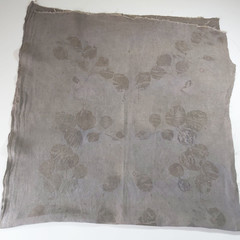 Botanically Bundle Dyed  Leaf Print Linen - 140cm x 70cm