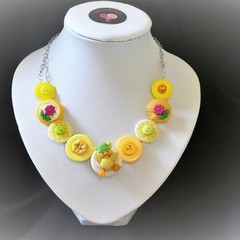 Easter necklace - Yellow Ducky