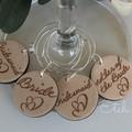 Personalised Acrylic  Wine Tags