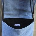 Upcycled Denim Cross Body Bag - Protea
