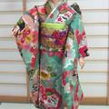 doll clothes aqua green kimono set for Silkstone Barbie and other dolls handmade