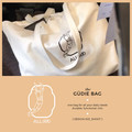 Figure Printed Cotton Tote Bag with Pockets | The Güdie Bag