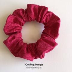 Fuchsia Roses Scrunchie