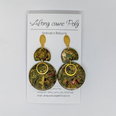 Incognito, polymer clay earrings