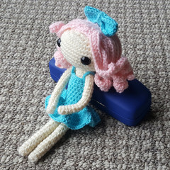 Crochet Doll / Amigurumi / Stuffed Toy / Blue Pink Doll / Kids Gift / Girls Gift