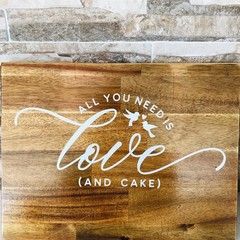 All you need is love (and cake) - 16mm Wooden Wedding Sign