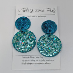 Got the blues 💙 polymer clay stud drops