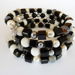 Black & White Wrap Bracelet
