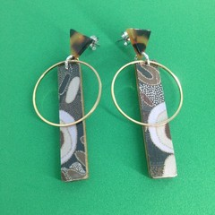 Aussie print stick earrings