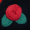 Knitted Red Rose Brooch. Perfect Gift For Her.