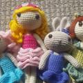 Crochet Doll / Amigurumi / Stuffed Toy / Blue Pink Doll / Kids Gift / Girls Gift