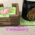 Unique arcylic resin coasters set of 4