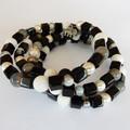 Black & White Wrap Bracelet