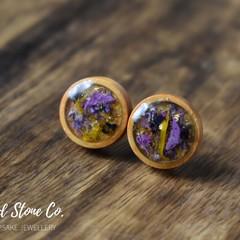 Wooden Floral Earrings