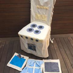 Handmade Kids Play Kitchen Chair Cover - The Switchin' Kitchen - Yellow