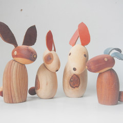 Toys of Wood - Handmade natural Rabbit