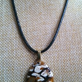 JASPER GEMSTONE PENDANT with complimentary necklace