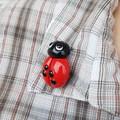 Polymer clay Ladybug Lady beetle brooch