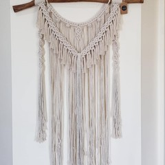 Stachi - Natural coloured macramé wall hanging