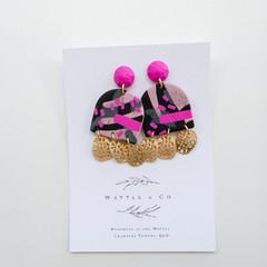 Statement Dangle 'pink + gold'