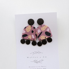 Statement Earring 'mauve & grace '