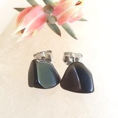 Black Tourmaline Studs