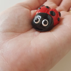 Polymer Clay Ladybug / Lady Beetle fridge magnet