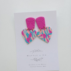 Statement Drop Earring 'Print me peach'