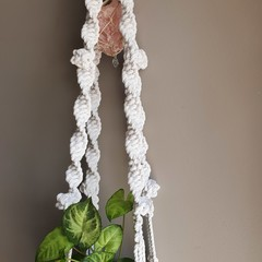 Rose Quartz Crystal Plant Hanger