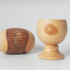 Toys of Wood Natural Wooden Easter Egg with cup