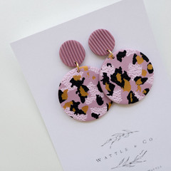 Statement Earring 'mauve print' Collection