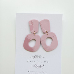 Statement Drop Earring 'blush stone'