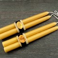 Hygge beeswax candle, Dinner taper candlestick set