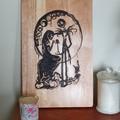 Wood burnt Nightmare Before Christmas Cutting Board