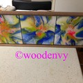 Arcylic resin tile art wall hanging