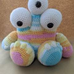 Crochet monster stuffed toy
