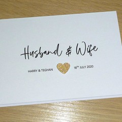 Personalised Wedding  card - Husband & Wife