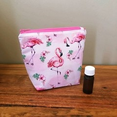 Essential Oil Pouch 5 slots - flamingo