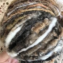 Handspun yarn, soft merino alpaca and mixed Aussie wool and locks 158 grams 100