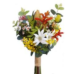 Colourful Australian Native Flower Bouquet for Aussie Bride