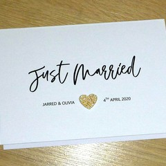 Personalised Wedding  card - Just Married