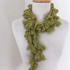 Clearance Skinny scarf, fine Australian wool, hand crocheted scarf, plumfish sca