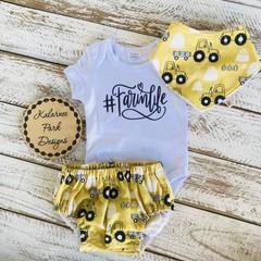 """#Famlife"" Onesie Set Baby"